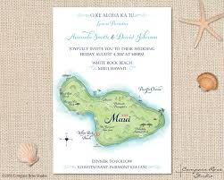 wedding invitations island compass studio custom maps