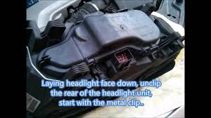 volvo xl 70 volvo xc70 headlight bulb replacement youtube