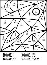 35 math coloring pages 2nd grade color by number math worksheets