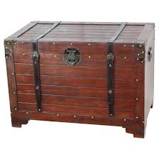 fashioned wood storage trunk wooden treasure chest