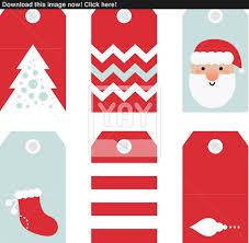 cute modern christmas holiday gift tags printables vector