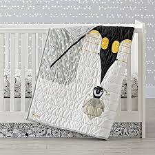 charley harper penguin crib bedding the land of nod