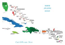 Puerto Rico World Map by Kartor Karibien Maps Caribbean