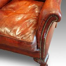 Club Armchairs Pair Of Edwardian Leather Club Armchairs Now Sold Hingstons
