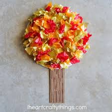 Fun Fall Kids Crafts - easy fall kids crafts that anyone can make fall trees tree