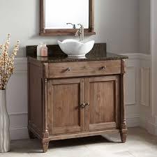 36 neeson vessel sink vanity rustic brown bathroom