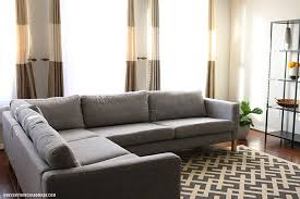 Karlstad Sofa Bed Ikea How To Tuft Button Your Ikea Karlstad Cushions Oh Everything
