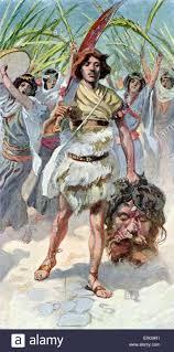 david takes the head of goliath to jerusalem by j james tissot