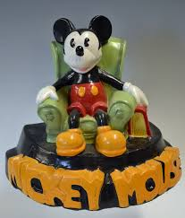 Mickey Mouse Chair by Mickey Mouse Plaster Cast Figure Featuring Mickey Mouse Sitting In