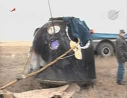 crewed spaceflight what is the outside of the soyuz capsule
