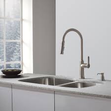 sinks faucets modern stylish pull down stainless steel kitchen