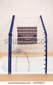 foldable blue bath folding clothes stock photo 248329468