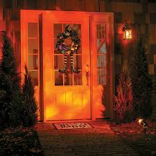 halloween light display projector improvements fire ice halloween light show projection 15