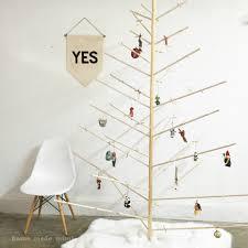 wooden dowel christmas tree home made mimihome made mimi