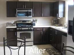 Kitchen Cabinet Transformations Or Wait Do I Like The Dark Cupboards And Keep The Counter The