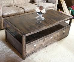 Build A Wood Coffee Table by How To Build A Coffee Table With Drawers U2013 Thewaiverwire Co