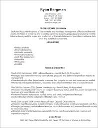 Resume Accounting Examples by Fund Accounting Resume Senior Accounting Professional Resume