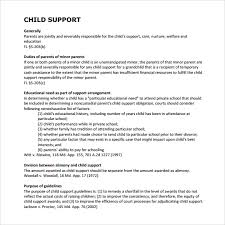 support agreement template 28 images doc 585550 child support