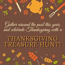 thanksgiving treasure hunt california pools