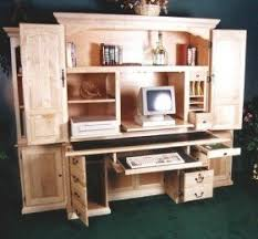 Laptop Armoire Desk Solid Wood Computer Armoire Decor
