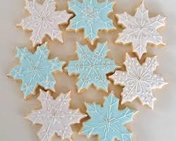 snowflake sugar cookies decorated sugar cookies