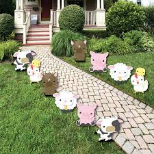 farm animals lawn decorations outdoor baby shower or