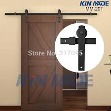 Metal Sliding Barn Doors Kin Made Free Shipping Home Diy Steel Sliding Barn Door Hardware