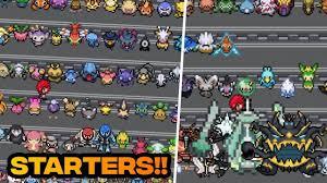 pokemon fan games online pokemon fan game with all pokemons as starter pokemon with