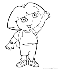 dora explorer color coloring pages kids cartoon