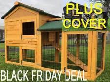 4ft Rabbit Hutch With Run Rabbit Hutch And Run Pet Supplies Ebay