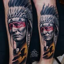 native american indios half sleeve tattoo by alo loco london