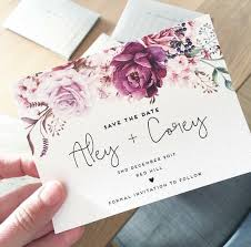 wedding save the date card the jenny design ink hearts paper