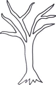 best 25 tree outline ideas on tree mural simple