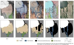 Seattle Elevation Map by Waterlines Maps U0026 Images