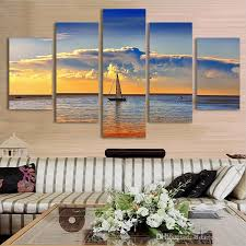 boat decor for home 2018 2016 ocean boat print oil painting on canvas home decoration