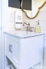 Powder Room Hand Towels Powder Room Makeover Reveal Transitional Farmhouse Style