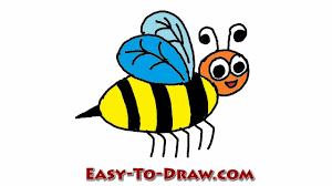 how to draw a cartoon honey bee step by step free u0026 easy