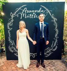 wedding backdrop photo booth chalk board photo booth backdrop with wedding lettering