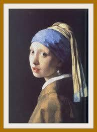 vermeer pearl earring museum needlepoint girl with the pearl earring by johannes vermeer