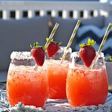 Best Party Cocktails - strawberry margarita punch the cookie rookie