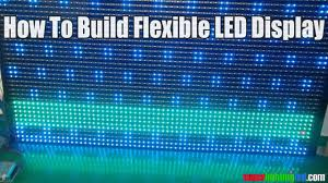 how to build your own led display screen with