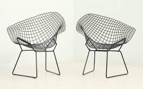 Net Chair Black Diamond Chairs By Harry Bertoia For Knoll 1950s Set Of 2