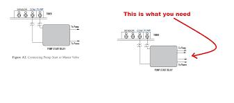 i am installing the start pump relay orbit to an orbit timer the