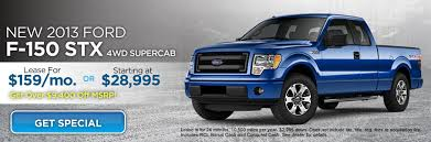 ford lease lease a 2013 ford f 150 stx with 4wd for 159 month