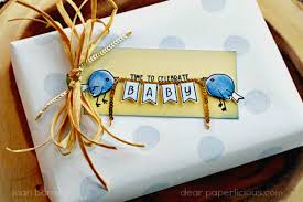 baby gift wrap dear paperlicious concord 9th baby gift wrap and tag