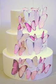 Edible Butterfly Cake Decorations Light Pink Edible