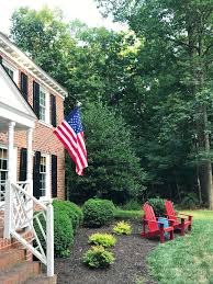Front Porch Flag Pole I Love A Patriotic Front Porch For The Fourth Young House Love