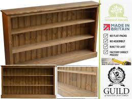 boston pine adjustable low bookcase 5ft wide