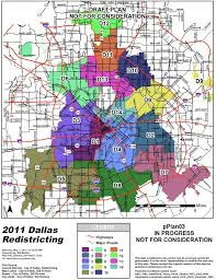 Map Of Dallas by Dallas Redistricting 2011 May 2011