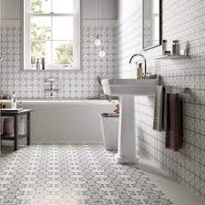 bathroom flooring ideas uk patchwork and patterned tiles